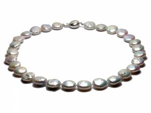 Isabelle - White Coin Pearl Choker-0
