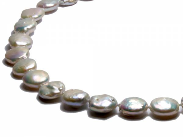 Isabelle - White Coin Pearl Choker-253