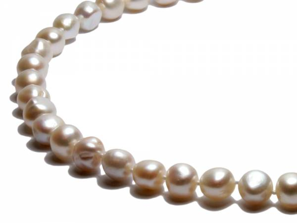 Celine - Baroque White Pearl Necklace-255