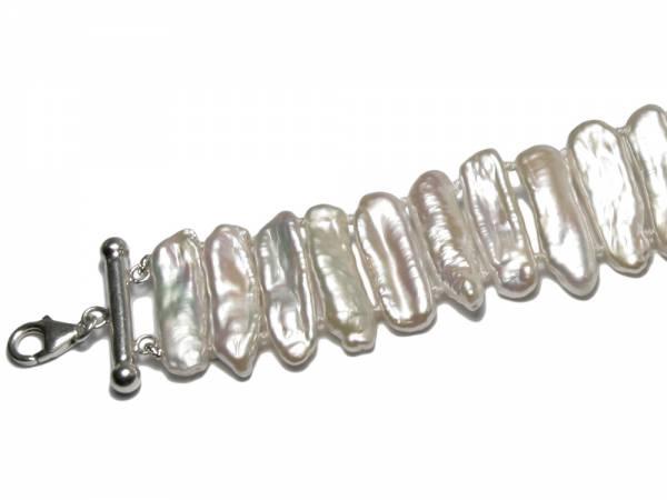 Caroline - White Biwa Pearl Collar-256