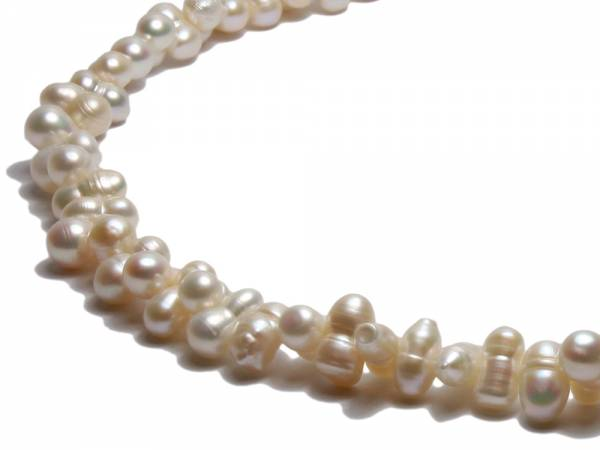 Twirling Twins - White Twinned Pearl Necklace-257