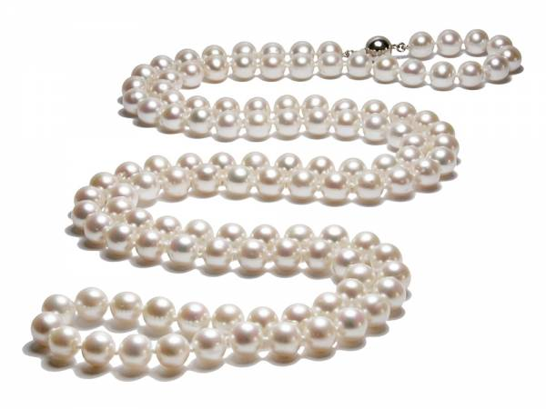 Coco - Long White Pearl Necklace-0