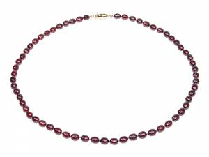 Carmen - Cranberry Red Pearl Choker-0