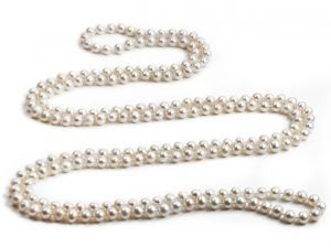 Yvonne - Endless White Pearl Rope-0