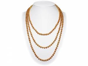 Sylviane - Golden Pearl Necklace-0