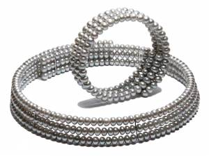Dorota - Silver Pearl Collar (Ras-Du-Cou)-0