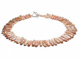 Emilie - Natural Color Biwa Pearl Choker-0