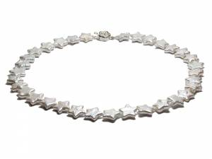 Juliette - White Star Pearl Necklace-0