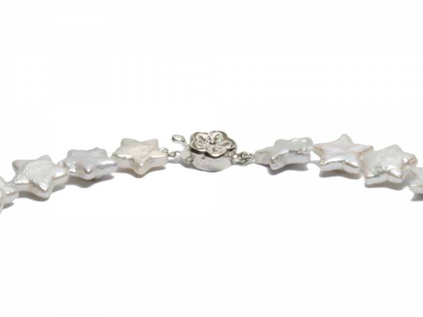 Juliette - White Star Pearl Necklace-510