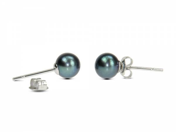 Princess Pea Black - Stud Pearl Earrings-79