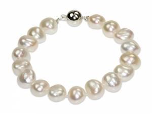 Celine - White Baroque Pearl Bracelet-0