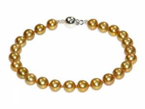 Sylviane - Golden Pearl Bracelet-0