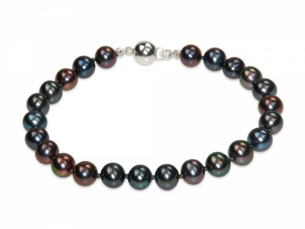 Lola - Peacock Black Pearl Bracelet-0
