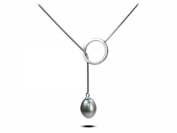 Lacrima di Uva - Lavender Pearl Lariat Pendant-0
