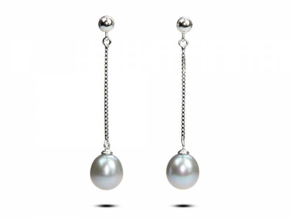 Lacrime - Lavender Pearl Earrings