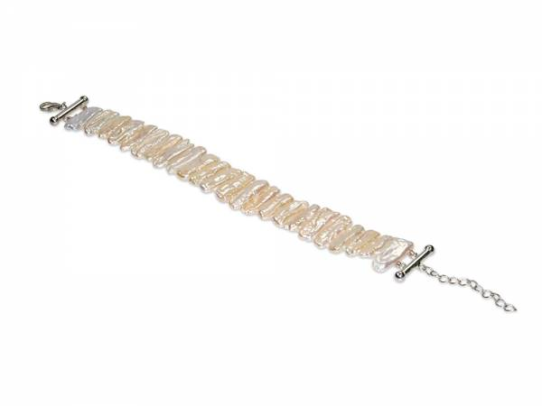 Caroline - White Biwa Pearl Bracelet-0