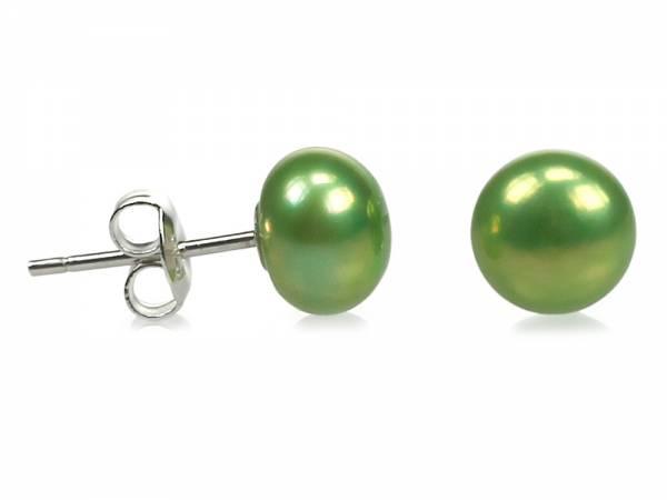 Apple Candy - Green Pearl Stud Earrings-178