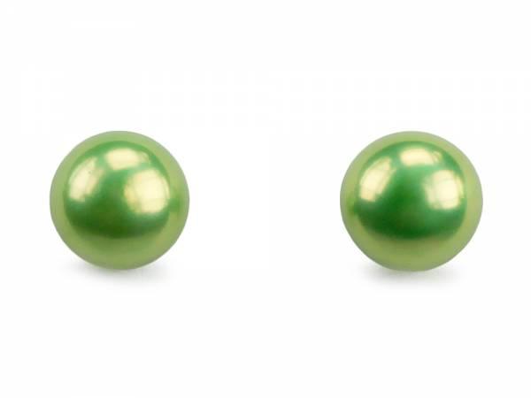 Apple Candy - Green Pearl Stud Earrings