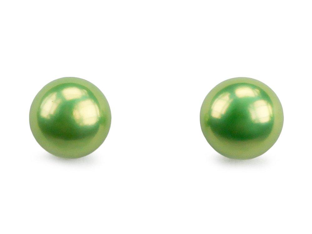 Le Candy Green Pearl Stud Earrings