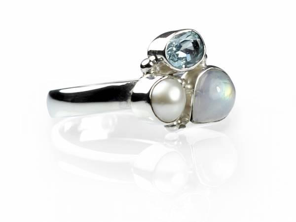 Drew - Moonstone, Topaz & Pearl Ring-0