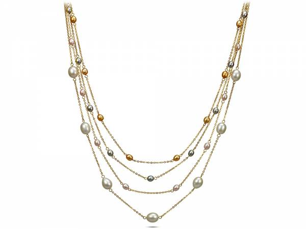 Iris - Pearl Station Necklace-0