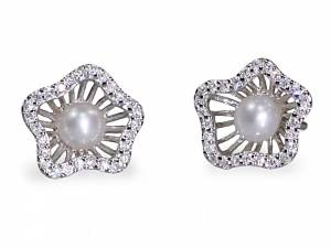 Annika - Pearl & Crystal Earrings