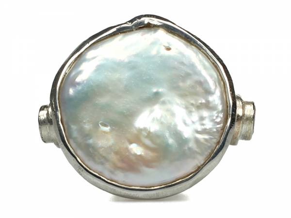 Moneta - Big Coin Pearl Ring-419