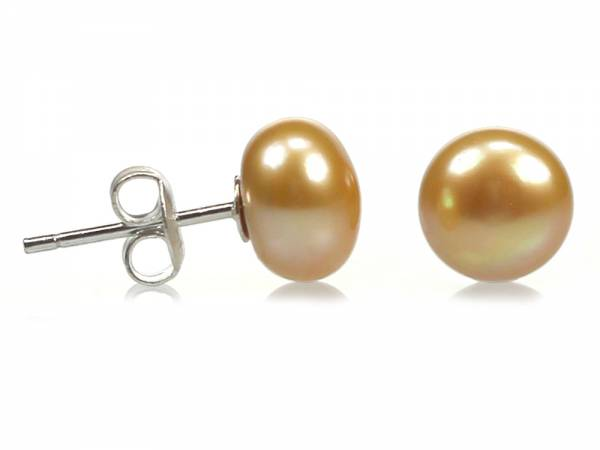 Pineapple Candy - Light Gold Pearl Stud Earrings-194