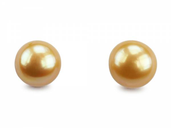 Pineapple Candy - Light Gold Pearl Stud Earrings