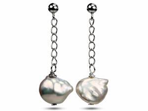 Kesh - Metallic Keshi Pearl Earrings