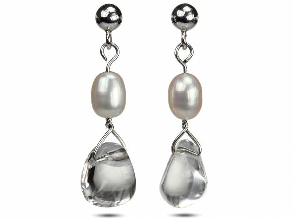 Kristy - Rock Crystal & White Pearls-0
