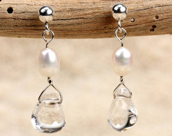 Kristy - Rock Crystal & White Pearls-448