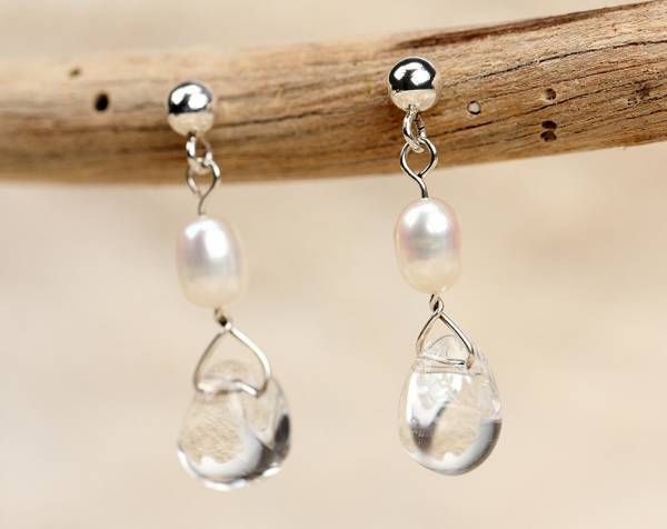 Kristy - Rock Crystal & White Pearls-678