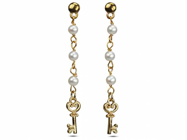 Prudence - Pearls & Golden Key Charms-0