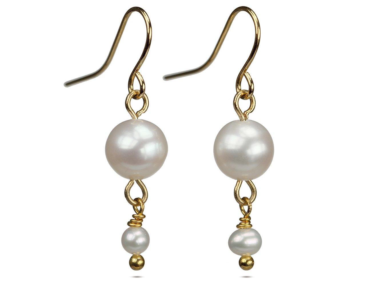 Alix In White Pearl Dangle Earrings 437