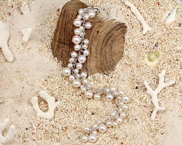 Coco - Fine White Pearl Cascade Bracelet-462