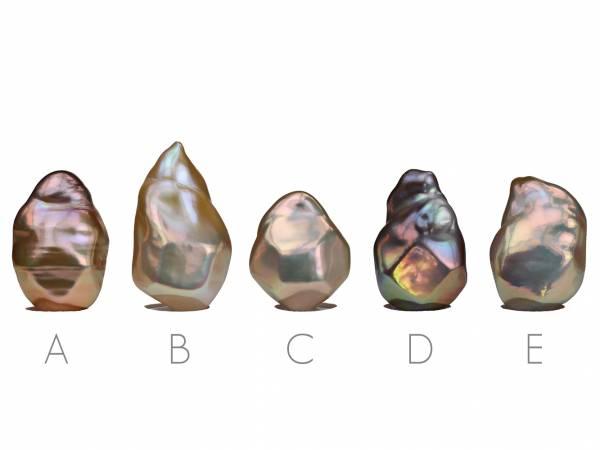 Diamante d'Oro - Golden Baroque Pearl Pendant-471