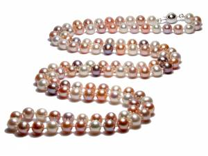 Multicolor Goddess - Long Natural Color Pearl Necklace-0