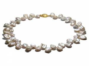 Amandine - White Keshi Pearl Necklace-0