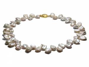 Amandine - White Keshi Pearl Necklace-0