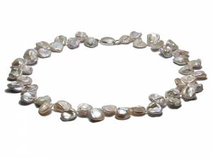 Chloe - White Keshi Pearl Necklace-0