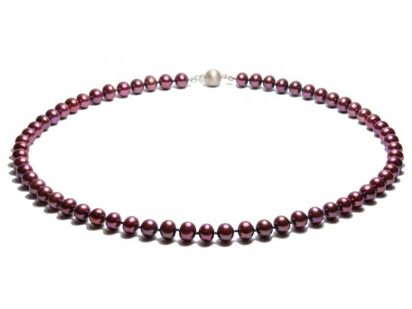 Charlotte - Cranberry Red Pearl Necklace-0