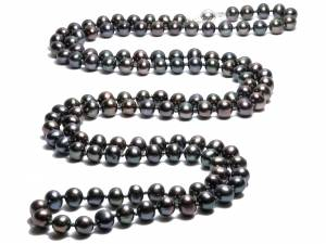 Lilou - Black Pearl Necklace-0