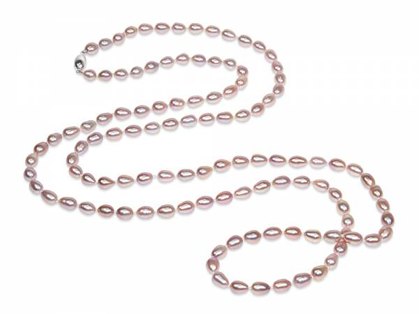 Maud - Lavender Oval Pearl Rope-0