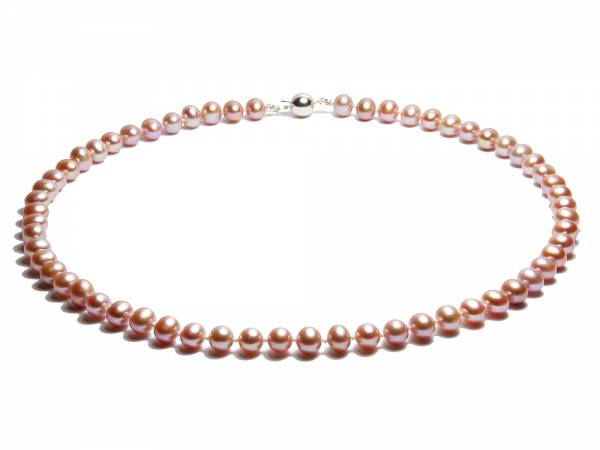 Greta - Lavender Pearl Necklace-0