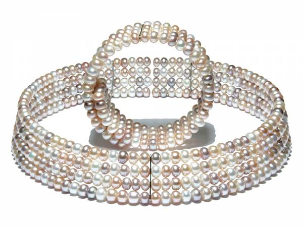 Yola - Natural Color Pearl Collar-0