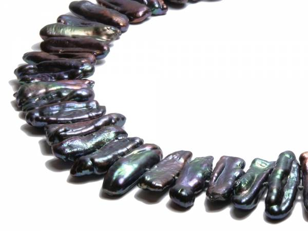 Black Queen - Black Biwa Pearl Necklace-278