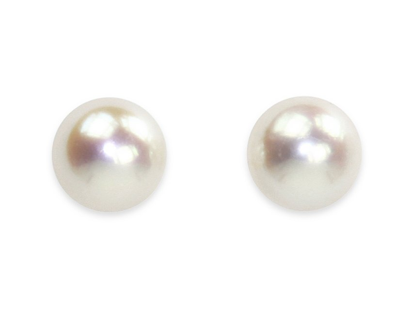 13562cc6ebac8 Queen Pea White - Large Pearl Stud Earrings