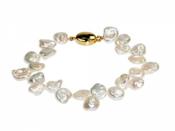 Amandine - White Keshi Pearl Bracelet-0