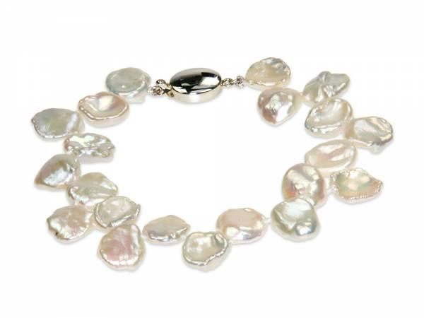 Chloe - White Keshi Pearl Bracelet-0